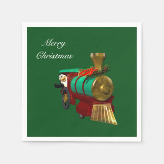 Penguin and Christmas Train Disposable Napkin