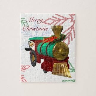 Penguin and Christmas Train Jigsaw Puzzle