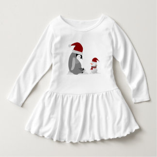 Penguin and snowman dress