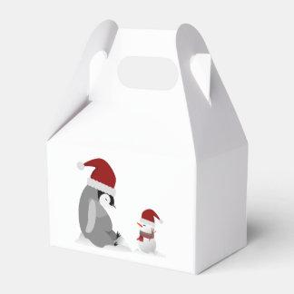Penguin and snowman favor box