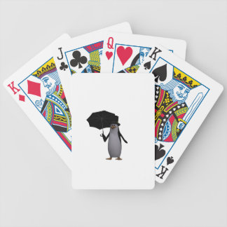 penguin and umbrella bicycle playing cards