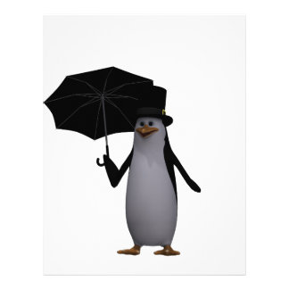 penguin and umbrella letterhead