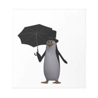 penguin and umbrella notepad