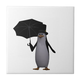penguin and umbrella tile