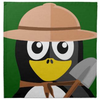 Penguin Archaeologist Napkin