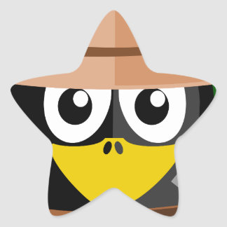 Penguin Archaeologist Star Sticker