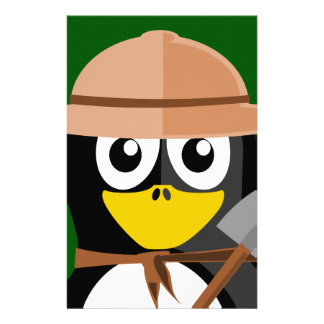 Penguin Archaeologist Stationery