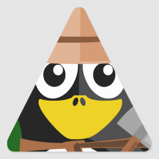 Penguin Archaeologist Triangle Sticker