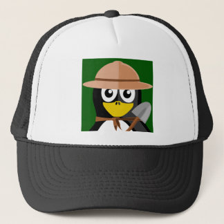 Penguin Archaeologist Trucker Hat