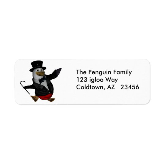 Penguin Awareness Day address ~ January 20 Return Address Label