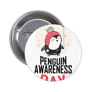 Penguin Awareness Day - Appreciation Day 2 Inch Round Button