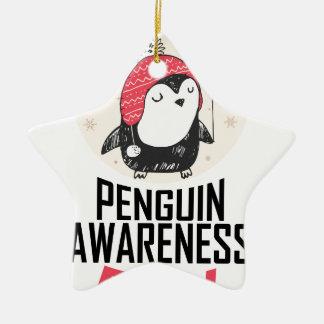 Penguin Awareness Day - Appreciation Day Ceramic Star Ornament