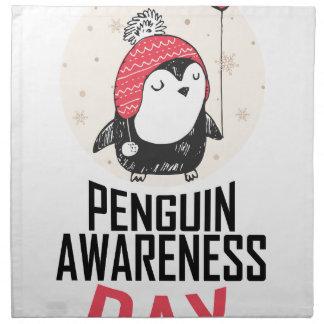 Penguin Awareness Day - Appreciation Day Napkin