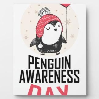Penguin Awareness Day - Appreciation Day Plaque