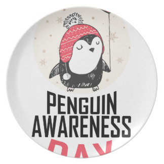 Penguin Awareness Day - Appreciation Day Plate
