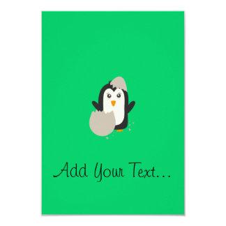 "Penguin baby 3.5"" x 5"" invitation card"