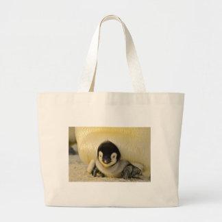 Penguin Baby Antarctic Life Animal Emperor Cute Large Tote Bag