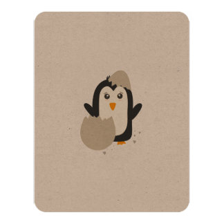 Penguin baby card