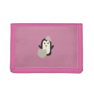 Penguin baby tri-fold wallet