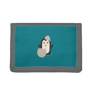 Penguin baby tri-fold wallets
