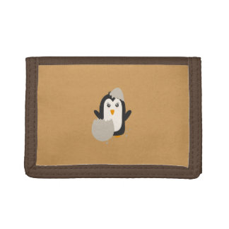 Penguin baby trifold wallet