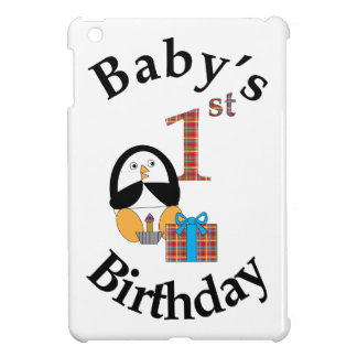 Penguin Baby's 1st Birthday iPad Mini Cover