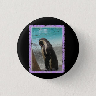 Penguin badge 1 inch round button