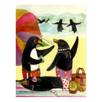 Penguin Beach Postcard