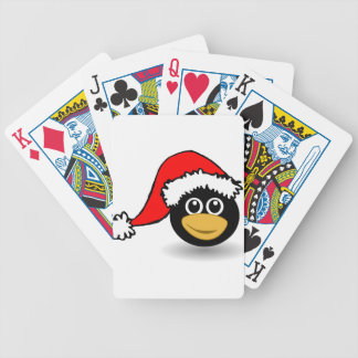 penguin bicycle playing cards