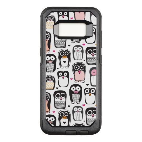 penguin bird illustration background OtterBox commuter samsung galaxy s8 case