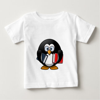 Penguin & Books student teacher reading bookworm Baby T-Shirt