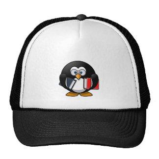 Penguin & Books student teacher reading bookworm Trucker Hat