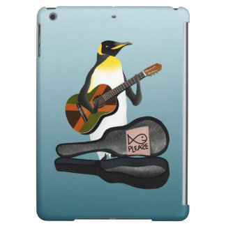Penguin Busking iPad Air Covers