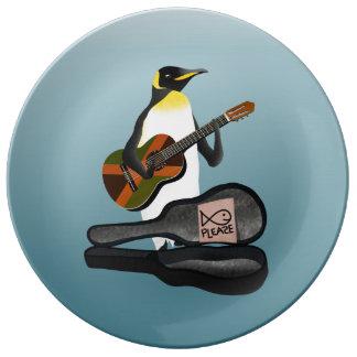 Penguin Busking Plate