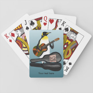 Penguin Busking Playing Cards