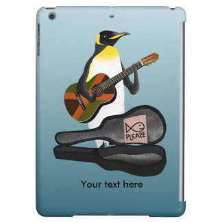 Penguin Busking With Jamaica Flag Guitar iPad Air Covers