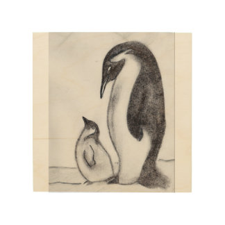 penguin canvas wood canvases