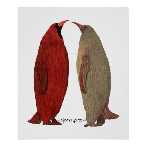 Penguin Cardinal Pair Posters