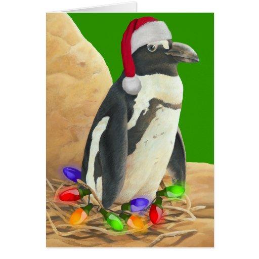 Penguin christmas card zazzle for Penguin christmas cards homemade