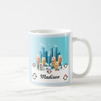 Penguin City Editable Coffee Mug