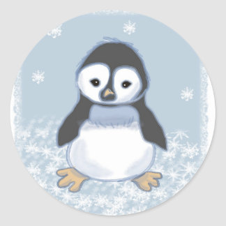 Penguin Classic Round Sticker
