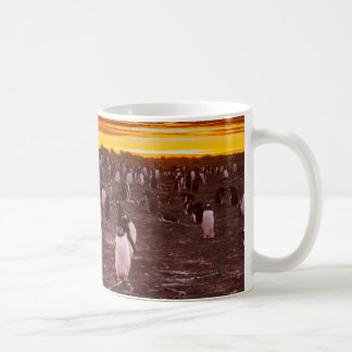 Penguin colony at sunset, Falkland Coffee Mug