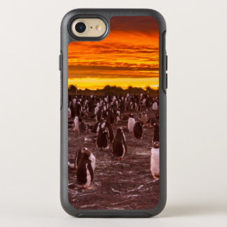 Penguin colony at sunset, Falkland OtterBox Symmetry iPhone 7 Case