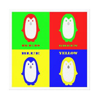 Penguin Colors Canvas Print