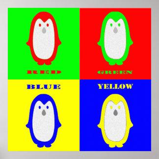 Penguin Colors Print