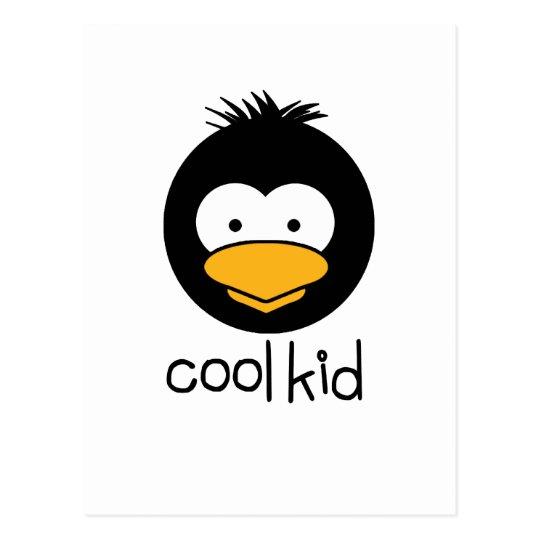 penguin - cool kid postcard