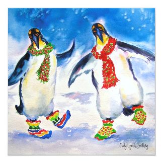 Penguin Couple Christmas Card
