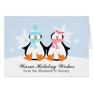 Penguin Couple Christmas Cards