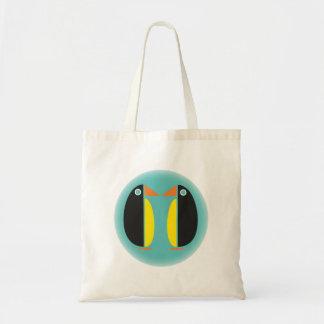 Penguin Couple Tote Bag