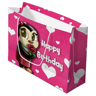 Penguin Cutie Birthday Gift Bag - Large, Glossy